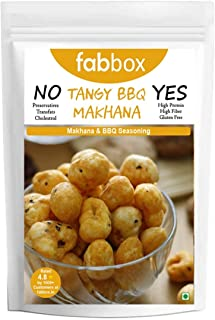 fab box Tangy Barbeque Makhanas High Protein Sugar Free Evening Snack for Kids and Adults-70 Gms