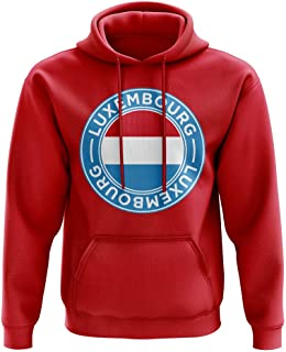 Luxembourg Football Badge Hoodie (Red)