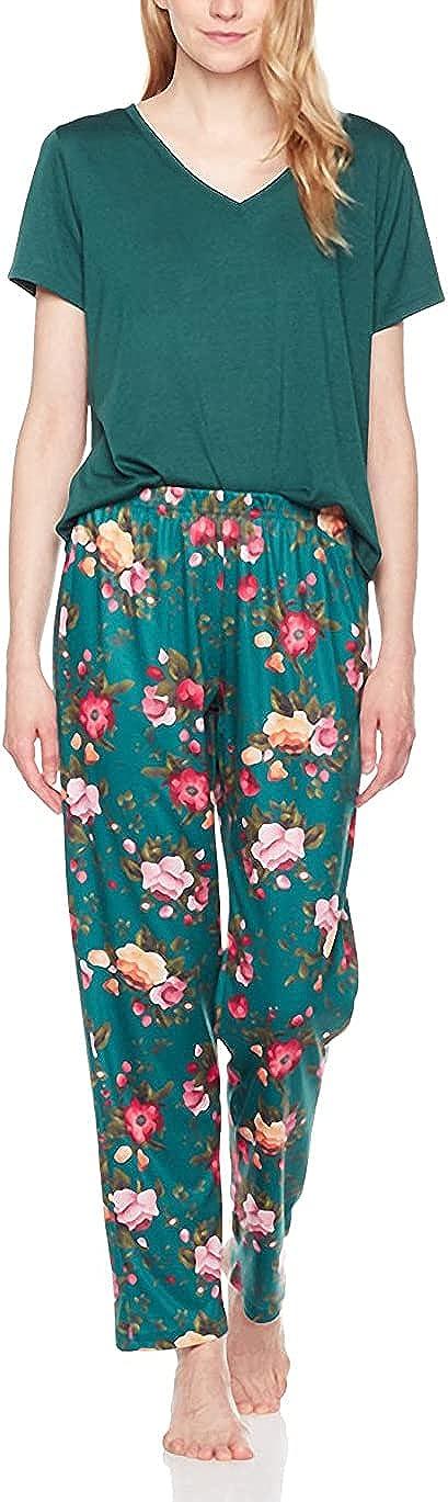 Selene Women's Sleepwear Knit V-Neck Short-Sleeve Tee T-ShirtPa