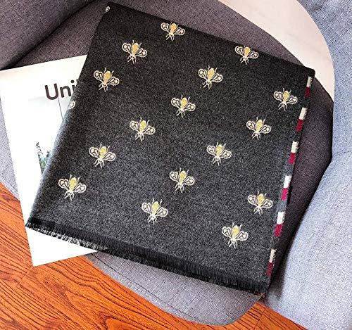 Herfst en winter nieuwe kasjmier-imitatie sjaal groot wild warm zomer airconditioning woonkamer sjaal donkergrijs