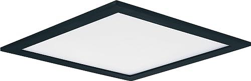"discount Maxim 57724WTBK Wafer Energy Star JA8 & ADA Compliant Acrylic 9"" Square online sale Outdoor Low Profile LED Wall/Flush 2021 Mount, 1-Light 20 Watt, 3000K, Black sale"