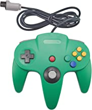 Joxde 1 Pack Upgraded Joystick Classic Wired Controller for N64 Gamepad Console (Green3)