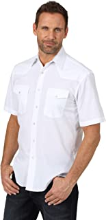 Wrangler Men's Short Sleeve Sport Western Snap Shirt