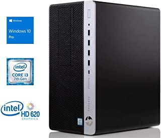 HP ProDesk 600 G3 Desktop, Intel Core i3-7100 3.9GHz, 8GB RAM, 256GB SSD, DVDRW, DisplayPort, VGA, Wi-Fi, Bluetooth, Windows 10 Pro
