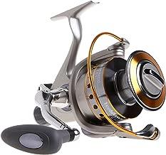 Yoshikawa Baitfeeder Spinning Reel Saltwater Freshwater Fishing 5.5:1 11 High Power Stainless Ball Bearings 28Lb Drag Right Left Hand Reversible Front Rear Drag Live Liner 3000-6000