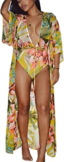 Women's Colorful Tie Dyeing Bandage One Piece Swimsuit Bikini +Ponchos Cover Ups