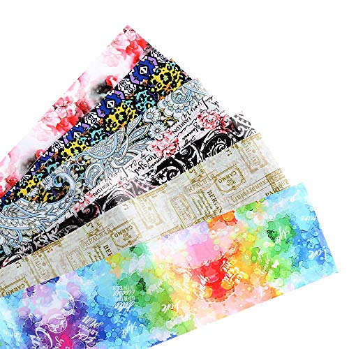 Nagelfolie set, DIY Manicure Zomer Folies 3D Holografische Nagel Sicker Water Transfer Stickers Sterrenbloem 05