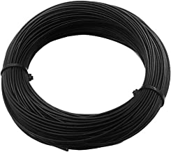 Stainless Steel 304 Black Wire Rope, Vinyl Coated, 7x7 Strand Core, Wire Rope OD is 1/16