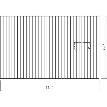 LIXIL INAX 風呂巻フタ 幅1134×奥行720mm:BLS72114-K (風呂ふた、フロふた、風呂蓋)