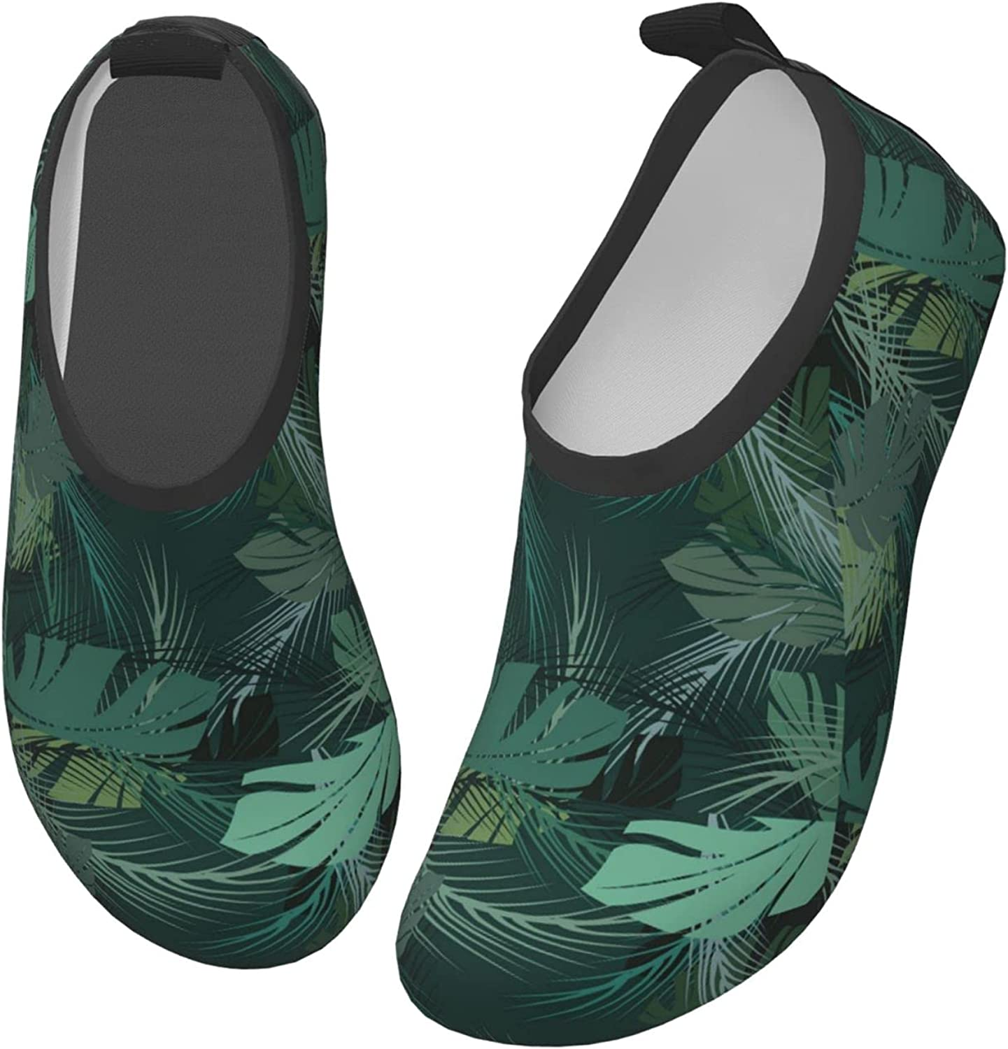 Jedenkuku Leaves Style Coconut Hawaii Children's Water Shoes Feel Barefoot for Swimming Beach Boating Surfing Yoga