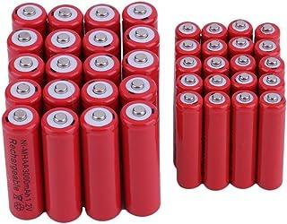 20 stuks Aa 3000Mah met 20 stuks Aaa 1800Mah 1.2V Ni-Mh oplaadbare batterij rood