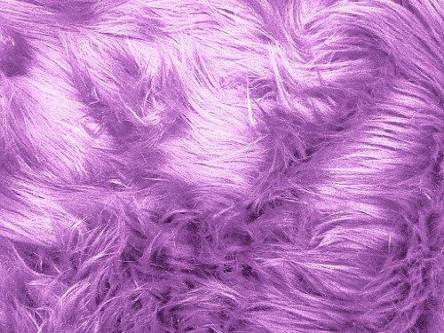 Faux Fur Luxury Shag Lavender 60 Inch Wide Fabric by The Yard (F.E.