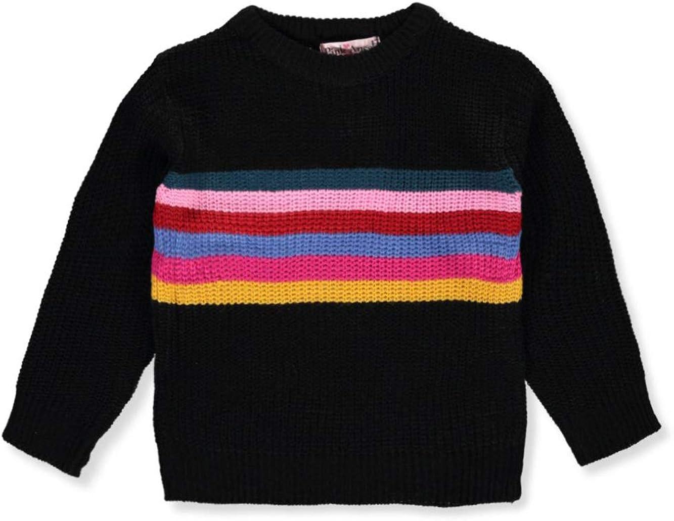 Pink Angel Girls Chest Stripe Sweater