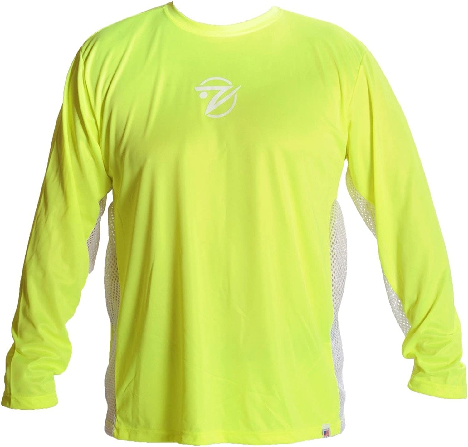 Breathe Like a Fish Long Sleeve with White Mesh  High Viz Yellow