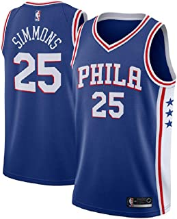 fabb558e7 Men's Ben Simmons Philadelphia 76ers 25# Swingman Blue Jersey