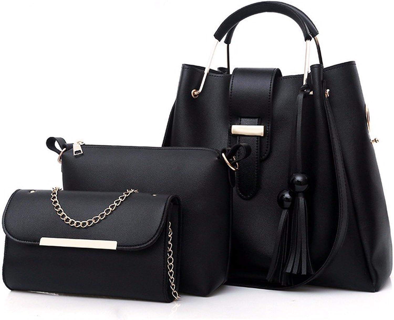 GQFGYYL handtaschen, Quasten, ranzen, Fashion Bags, DREI DREI DREI stücke von Frauen Taschen,schwarz B07H7J7NDF  Moderne Technologie 7ff933