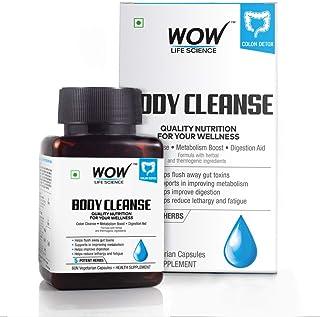 WOW Body Cleanse 750mg - 60 Vegetarian Capsules