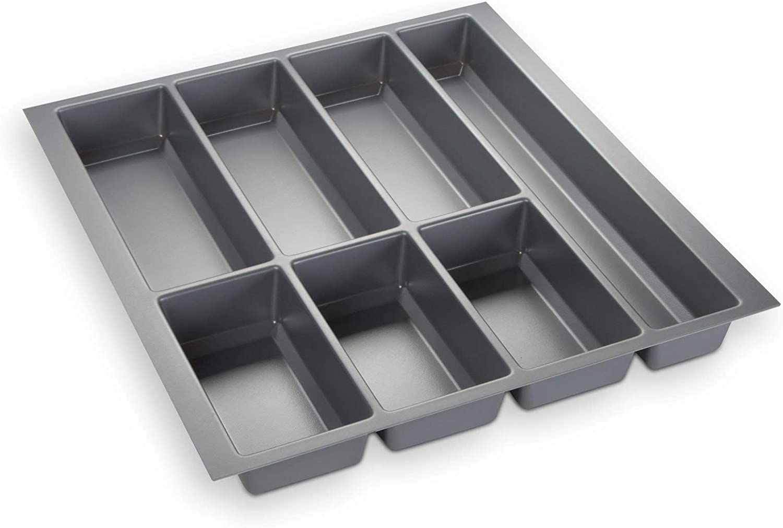 473,5 x 226 mm Orga-Box/® IV Universal Cubertero de Color Gris Argentado para Caj/ón de 30 cm