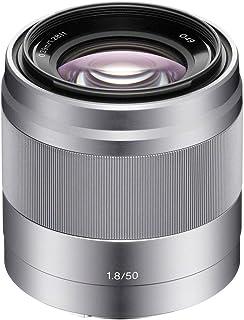Sony 50mm FE F1.8 SLR Lense for Cameras, Sliver