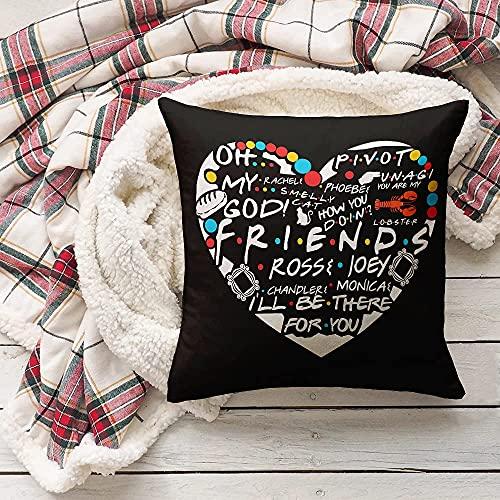 Friends Funda Almohada Serie De Tv Accesorios Para SofáS Sala De Estar Dormitorio DecoracióN Para El Hogar Friends Funda Almohada Goodies Regalo Conmemorativo 18x18 Inches