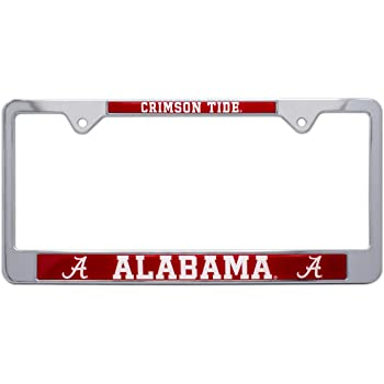 Elektroplate Alabama Alumni Crystal Metal License Plate Frame