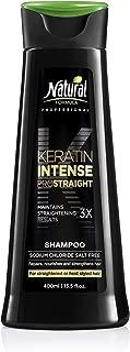Natural Formula Keratin Intense Shampoo – Sodium Chloride Free Keratin Infused Shampoo - Keratin Hair Repair Treatment For Straightened Hair Retains Frizz-Free Straightening Results 3 x Longer 13.5 oz