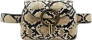 Women Snakeskin Leather Fanny Pack Waist Pack Adjustable Crossbody Shoulder Bag Bum Bag