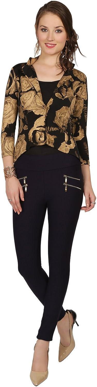 Ira Soleil Black viscose Knit stretch Women Short Jacket