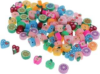 B Baosity 100pcs Bracciali per Collane di Perline Design di Frutta Varia Ornamenti per Progetti Artigianali