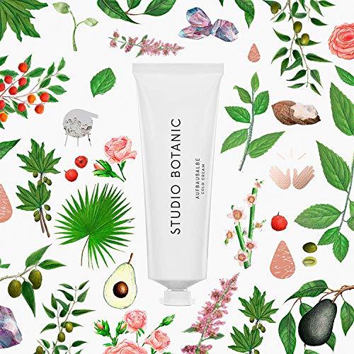 Studio Botanic Aufbausalbe/Cold Cream – Für Körper, Hände, Gesicht und Lippen – 50 ml Alutube – 100 % Rein Natürlich – Zertifizierte Vegane Naturkosmetik