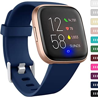 Ouwegaga Band Compatible with Fitbit Versa 2/Versa 1/Versa Lite/Special Edition Versa 2/SE Versa 1 Water Proof Fadeless Silicone Straps for Women Men Multi Color Combo