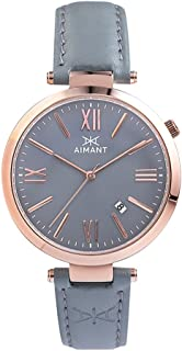 Women's Watch Bora Rose Gold with Grey Leather Band LBO-120L8-8RG