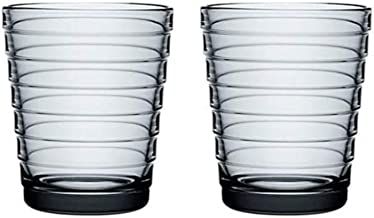 Iittala Aino Aalto drinkglas 22 cl, set van 2, grijs