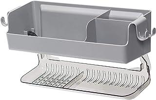 2層シャワーキャディ、2層バスルーム収納ラック、壁吸引タイプ無孔排水ラック、バスルームキッチンプラスチック収納オーガナイザー