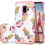 Samsung S9 Plus Case,S9 Plus Case Pineapple,Fingic Slim&Shiny Multi-Colorful Pineapple Cover Hard PC&Soft Rubber Anti-Scratch Skin Cover for Samsung Galaxy S9 Plus6.2(2018),Floral Pineapple/Pink