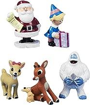 Kurt Adler Polyresin Rudolph The Red-Nosed Reindeer Figurine, Set of 5