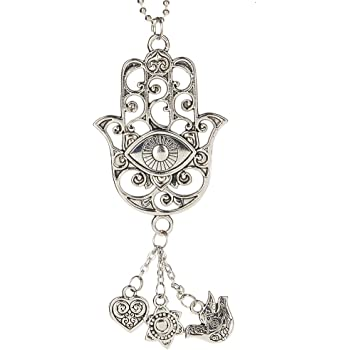 Car Charm Silver colored OWL Ganz EG0583