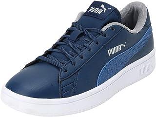 Puma Unisex-Child Smash V2 Garment Washed Kid's Shoes Sneaker
