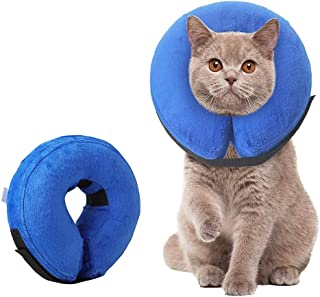 Tylu Pet Inflatable Headgear Protective Inflatable Collar Blow Up Dog Collar for Protecting Small Pets Post Surgery or Wounds