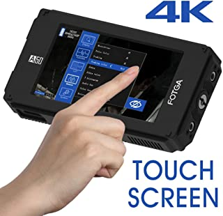 Fotga A50T 5 FHD Video On-Camera Field Monitor Touch Screen 1920x1080 510cd/m2 HDMI 4K Input/OutputDual NP-F Battery Plate NP-F970 NP-F550 F570 for Canon 5D III IV Sony A79 A7S II III GH4/5 Nikon