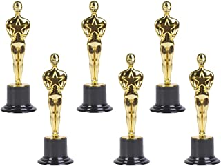 """Gold Award Trophies, 6"""" Trophy Statues - Oscar Statues - Oscar Trophy Award for Party Celebrations, Ceremony, Appreciation Gift, Sport Awards, Olympic Academy Awards, Oscar Party Supplies, (Set of 6)"""