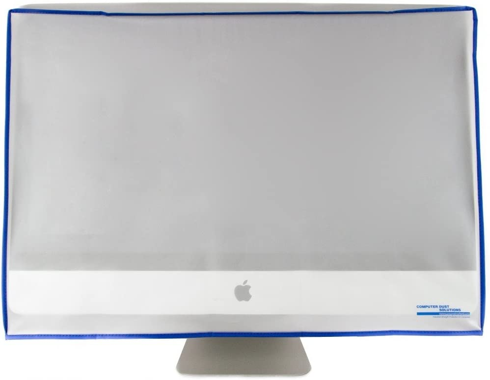 Dust and Water Resistant Silky Smooth Antistatic Vinyl iMac Monitor Dust Cover for 24