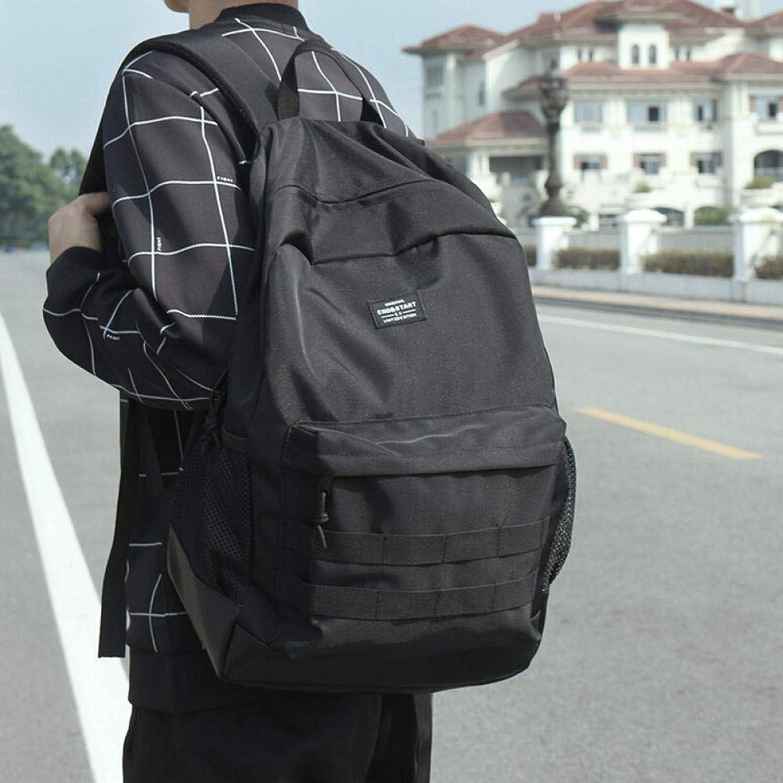 Studenten Backpack New Rucksack Herren Rucksack Modetrend Student Tasche Japan Strae mit groer Kapazitt Reisetasche schwarz 1238