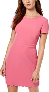 Maison Jules Womens Scalloped Sheath Cocktail Dress