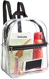 Stadium Approved Clear Mini Backpack Heavy Duty/Cold-Resistant Transparent Kids' Backpack with School, Security Travel & S...