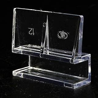 Gurxi 4 Piezas Soporte para Tapa de Vidrio para Acuario Soporte para Cubiertas de Vidrio para Acuarios Soportes Universales para Acuarios Clip para Acuario de Acero Inoxidable 6 mm
