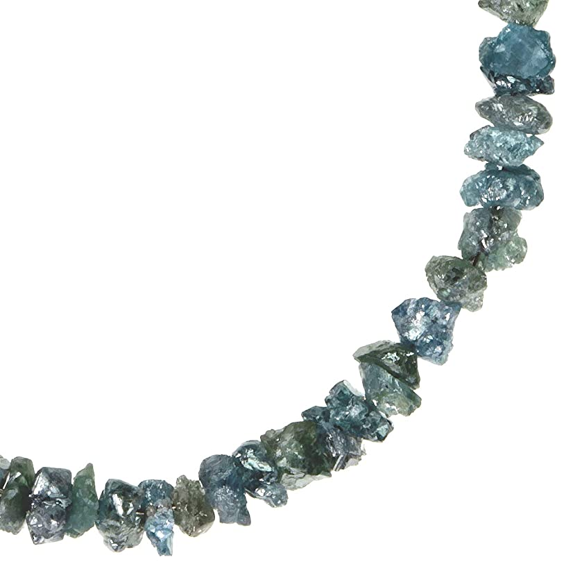 Blue Diamond Beads Genuine Rough on 14K Wire 2mm Tiny 2 1/2 Inches