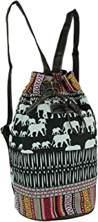 Unionbay Tribal Stripe Boho Elephants Bucket Backpack