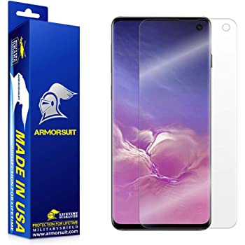 ArmorSuit MilitaryShield Screen Protector for Samsung Galaxy S10 - [Max Coverage] Anti-Bubble HD Clear Film