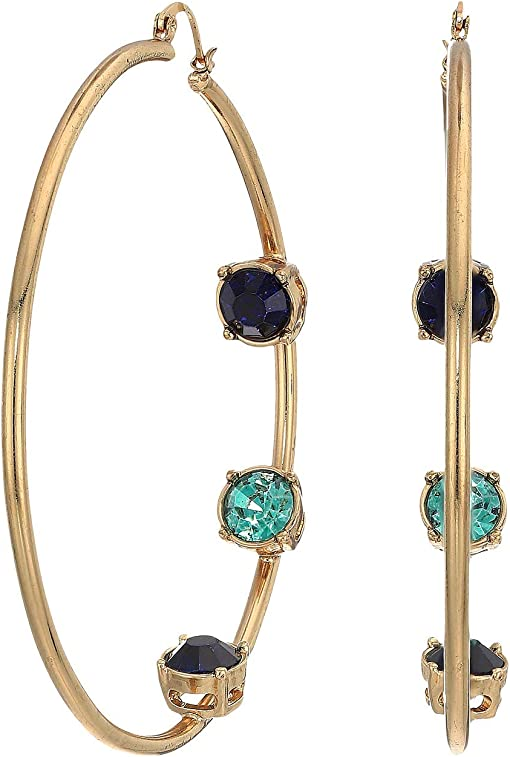 Multicolor/Yellow Gold-Tone/Blue